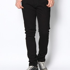 NUDIE JEANS - TIGHT LONG JOHN/ORG.BLACK BLACK