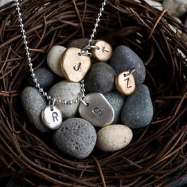 Colby June - Small Silver Pebble Charm