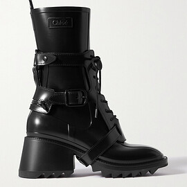 Chloe - CHLOÉ Betty logo-embossed rubber ankle boots