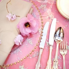 Lovely tablecloth and gold