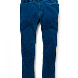 nonnative - DWELLER TIGHT FIT JEANS C/P CORD STRETCH OVERDYED WITH RYUKYU INDIGO for UA&SONS