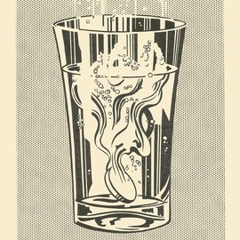 Roy Lichtenstein - Alka Seltzer (drawing), 1966