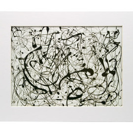 Jackson Pollock - Number 14:Gray,Matted Print