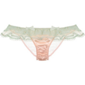 Agent Provocateur - Pamelina lace and satin briefs