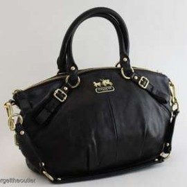 Coach - Madison Black Leather SOPHIA Satchel BAG