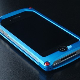 XEXeed358 - Smart Veil for iPhone4 シャイニングブルー 前面