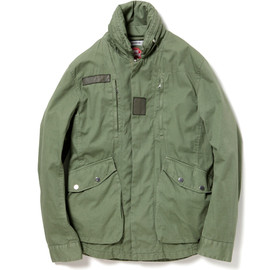 nonnative - DRIVER JACKET - COTTON ARMY CLOTH WITH WINDSTOPPER 2L OVERDYED