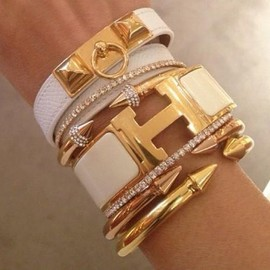 HERMES - White & Gold