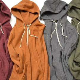 Alternative Apparel - Heatherd Zip Hoodie