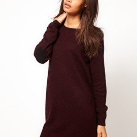 ASOS - Image 1 of ASOS Knitted Dress With Sweatshirt Details