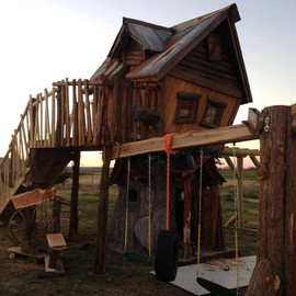 """TinyTownStudios - Tree House / Play Structure """"No Tree - No Problem, We Make It Out of Concrete"""""""
