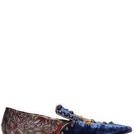 DOLCE&GABBANA - FW2014 EMBROIDERED VELVET AND BROCADE LOAFERS