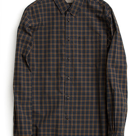 FACTOTUM - CHECK PLEAT TUCK SHIRT