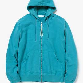 nonnative - DWELLER FULL ZIP HOODY COTTON SWEAT OVERDYED