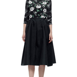 Equipment - Majestic Floral Cdc Slim Signature With Contrast Sleeves