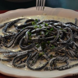 The Daily Catch - Boston - Black Pasta Alfredo