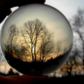 . - sunset through the crystal ball