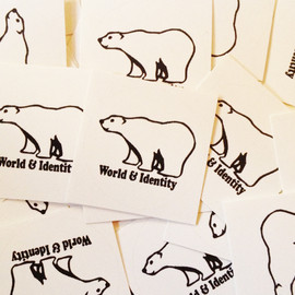 World & Identity - 1 inch bear  sticker