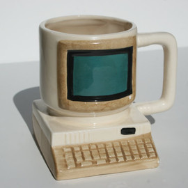 Huge Retro Vintage Computer Mug with  Keyboard Large CRT Monitor