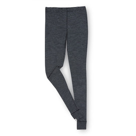 ibex - Ms Woolies 150 Bottom Stripe Stripe-Black/Med Heather Grey