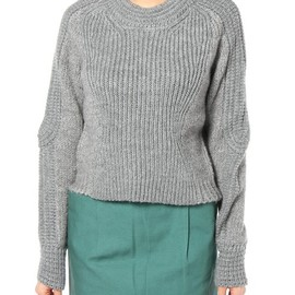 31philliplim - cropped body mapped pullover w/ottoman