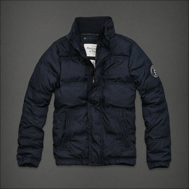 Abercrombie & Fitch - Abercrombie & Fitch Men Navy blue Latham Pond Down Jacket outwear (traderout)