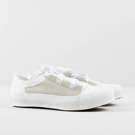 Needles - White Asymmetric Ghillie Sneaker