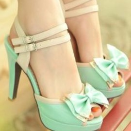 Mint Bow Shoes