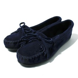 MINNETONKA - navy suede moccasin