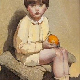 "Norah Neilson Gray  ""Little Boy with Oranges"""
