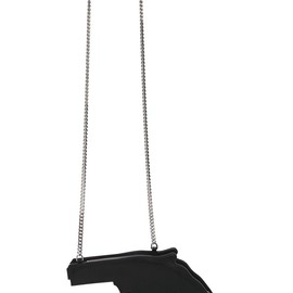 SAINT LAURENT - FW2014 HANDGUN SHAPED LEATHER SHOULDER BAG