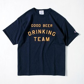 tacoma fuji records - good beer drinking team T-shirt - navy