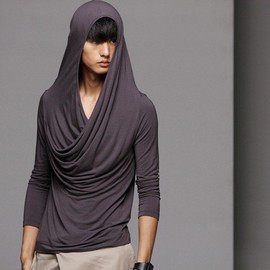 Vantouch - Draped Hooded Top Sweater Unisex
