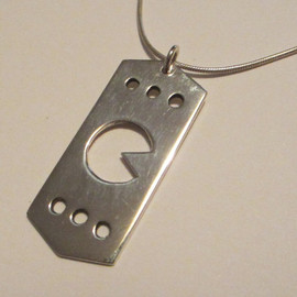 AHowlingJewellery - Sterling Silver Pac-Man Pendant