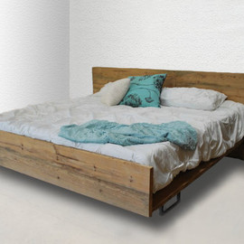 urban wood goods - Modern Rustic Reclaimed Wood Platform Bed, King Made to order