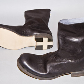 m.a+  - Back Zip Boots / bison leather