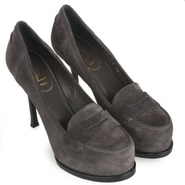Yves Saint Laurent - Tribtoo loafer-style leather pumps