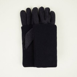 Maison Martin Margiela - 10 Navy Blue Men's Double Layered Gloves