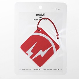 retaW, fragment design - Fragrance Car Tag fragment design ALLEN* (red)