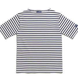 SAINT JAMES - Ouessant Short Sleeve Shirts-Ecru×Marine