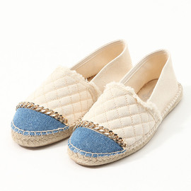 JEFFREY CAMPBELL FOR ROSE BUD - QUILT/CHAIN ESPADRILLE