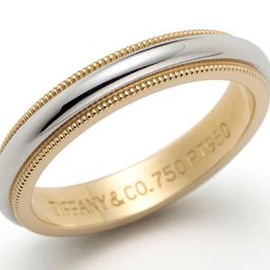 TIFFANY&Co. - Milgrain wedding band ring