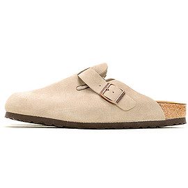 BIRKENSTOCK - Boston Suede Leather-Taupe