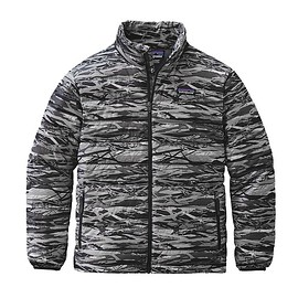 patagonia - ボーイズ・ダウン・セーター - Branch Camo: Feather Grey