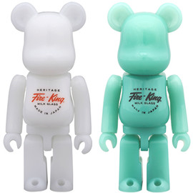 MEDICOM TOY - BE@RBRICK Fire-King 100%(WHITE / JADE-ITE)