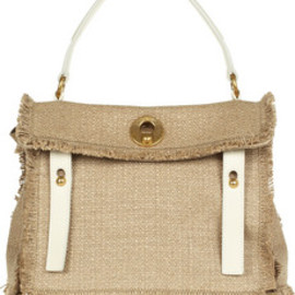 Yves Saint Laurent  - Yves Saint Laurent  Muse Two woven-linen tote