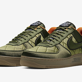 NIKE - Air Force 1 Low - Olive/Orange/Gum Dark Brown?