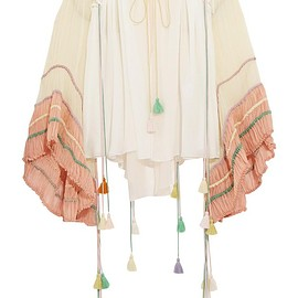 Chloé - Tasseled silk-crepon blouse