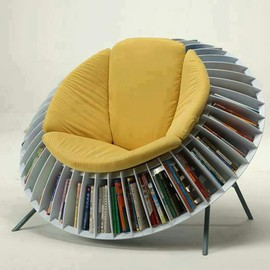 unknown - Round-Chair-Bookcase-combination