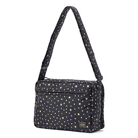 "HEAD PORTER - ""STELLAR (NEW)"" SHOULDER BAG (L) BLACK"